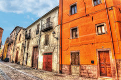 Colorful backstreet in Bosa Stock Photography