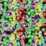 Colorful bacteria Stock Images