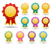 Colorful badge Stock Image