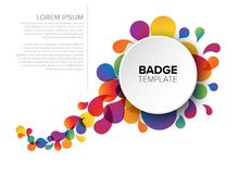 Colorful badge / tag template Royalty Free Stock Photos