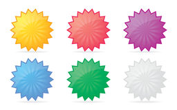 Colorful badges. Set of colorful  badge icons for your design Royalty Free Stock Photo