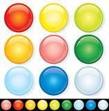 Colorful Badges Stock Photography