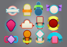 Colorful badges Stock Images