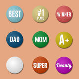 Colorful badges Royalty Free Stock Photos