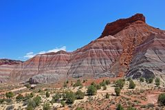 Colorful Badland Hills in Old Paria, Grand Staircase Escalante National Monument, Utah. USA Stock Photo