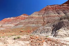 Colorful Badland Hills in Old Paria, Grand Staircase Escalante National Monument, Utah. USA Royalty Free Stock Photo