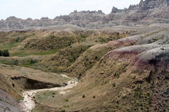 Colorful badlands vv. Colorful shot of some of the moutains at the South Dakota Badlands Stock Photos