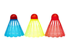 Colorful badminton shuttlecocks Royalty Free Stock Photo