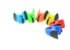 Colorful bag clips Stock Photo