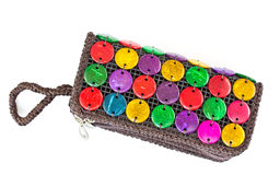 Colorful bag made of natural materials. Stock Images