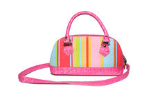 A Colorful bag with stripes Stock Photo