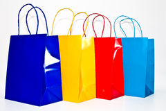 Colorful Bags Against White Royalty Free Stock Photo