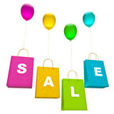 Colorful bags with balloons Royalty Free Stock Photography