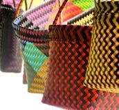 Colorful bags closeup Stock Photos