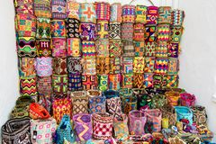 Colorful bags, Colombia Stock Image