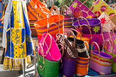 Colorful bags French market Stock Image