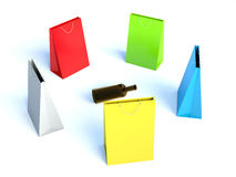 Colorful bags Stock Photos