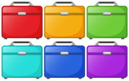 Colorful bags for travelling. Illustration of the colorful bags for travelling on a white background Royalty Free Stock Image