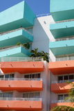 Colorful balconies. On a art deco building in South Beach Royalty Free Stock Photography