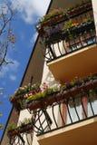 Colorful balconies Stock Photo