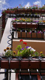 Colorful balconies Stock Image