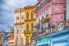 Colorful balconies and buildings in Havana, Cuba Stock Photography