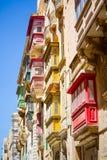 Colorful balconies in Malta. Colorful balconies in Valletta, Malta Stock Image