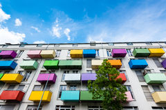 Colorful balconies Royalty Free Stock Images