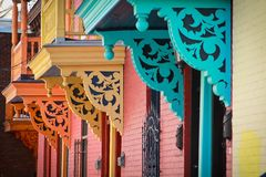Colorful balcony Stock Photo