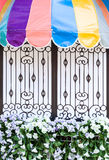 Colorful balcony board Royalty Free Stock Images