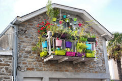 Colorful balcony in France Royalty Free Stock Image