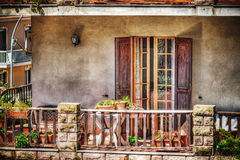 Colorful balcony in hdr Royalty Free Stock Image