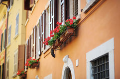A colorful balcony in Italy Royalty Free Stock Image