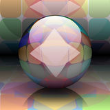Colorful ball on abstract background Royalty Free Stock Images