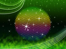 Colorful Ball Background Means Green Grid And Sparkles Royalty Free Stock Photos
