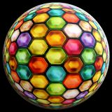 Colorful ball on black background Royalty Free Stock Image