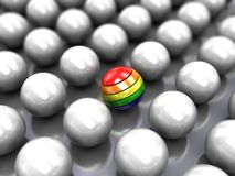Colorful  ball in center Royalty Free Stock Photos
