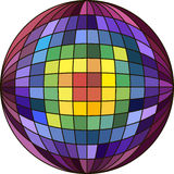Colorful ball with checkered pattern Stock Images