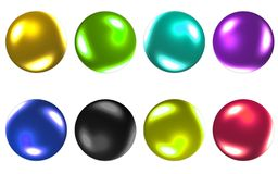 Colorful ball collection 3D.with Clipping Path. stock photos