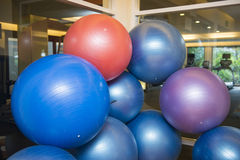 Colorful ball for exercise in fitness room Royalty Free Stock Image