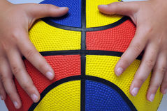 Colorful Ball in hands Stock Photos
