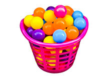 Colorful Ball In Beautiful Basket Stock Image