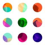 Colorful ball  logo set Stock Image