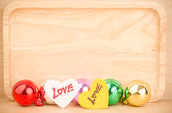 Colorful ball with love Stock Photography