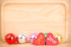 Colorful ball with love Stock Photos