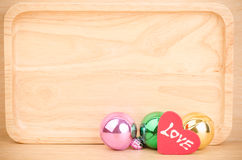 Colorful ball with love Stock Images