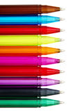 Colorful Ball Point Pens Royalty Free Stock Photos