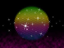 Colorful Ball Shows Colors Party And Shining Stock Images