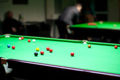 The snooker table Stock Images