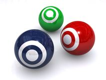 Colorful ball targets Royalty Free Stock Photos